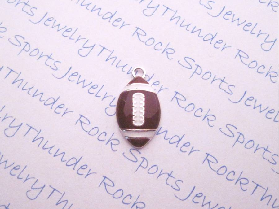 12 Football Charms Silver