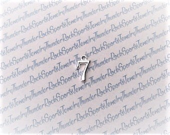 12 Number 7 Charms Silver