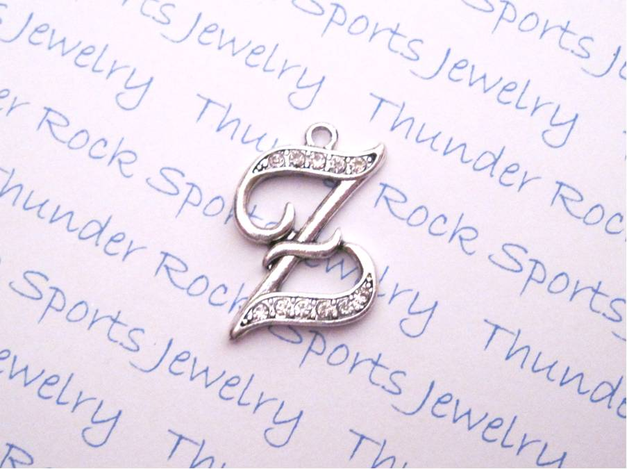 12 Crystal Letter Z Charms