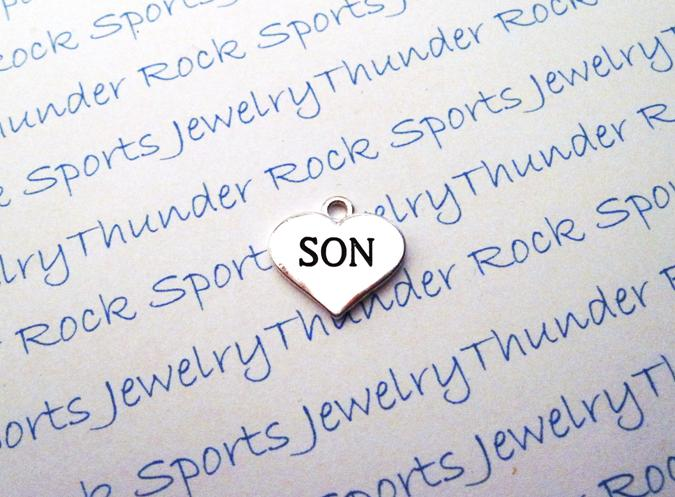 12 Son Hearts Silver Charms