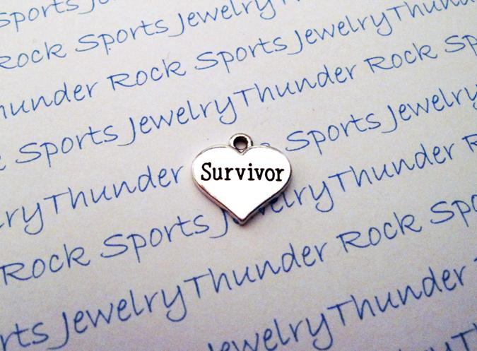 12 Survivor Hearts Silver Charms