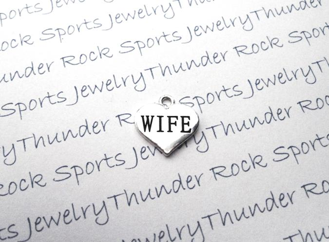 12 Wife Hearts Silver Charms